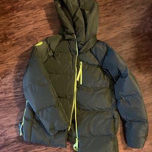 Fabletics olive puffer coat
